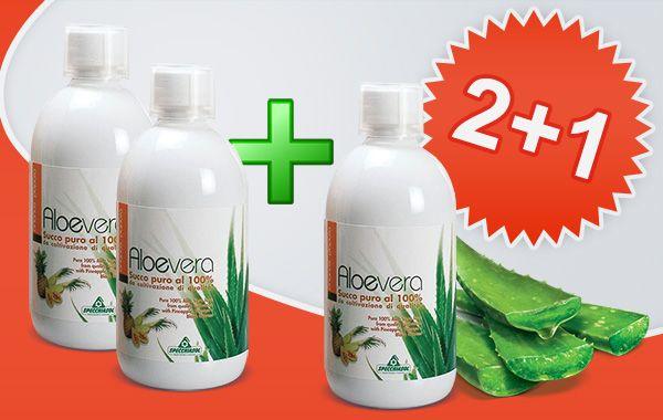 Specchiasol 100%-os Aloe Vera, Papaya, Ananász koncentrátum 2+1 akció